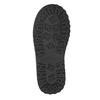 Kožené dievčenské čižmy s kožúškom mini-b, čierna, 394-6193 - 17