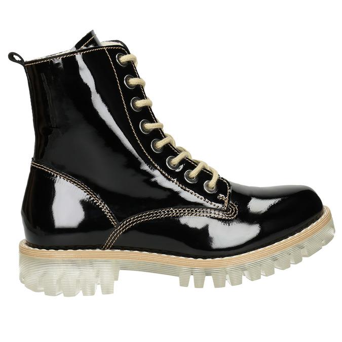 Lakovaná členková obuv s masivnou podrážkou weinbrenner, čierna, 598-6604 - 26
