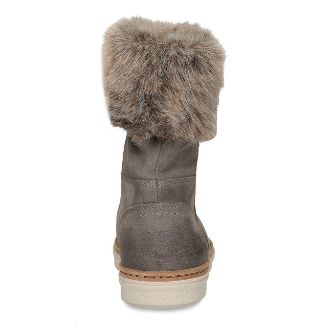 Kožená obuv s kožúškom weinbrenner, šedá, 596-2633 - 15
