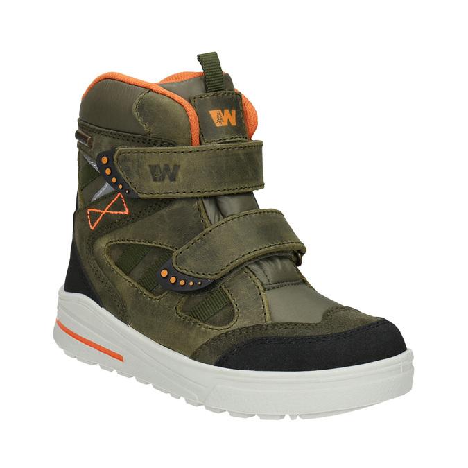 Detská zimná obuv z kože weinbrenner-junior, zelená, 493-7612 - 13