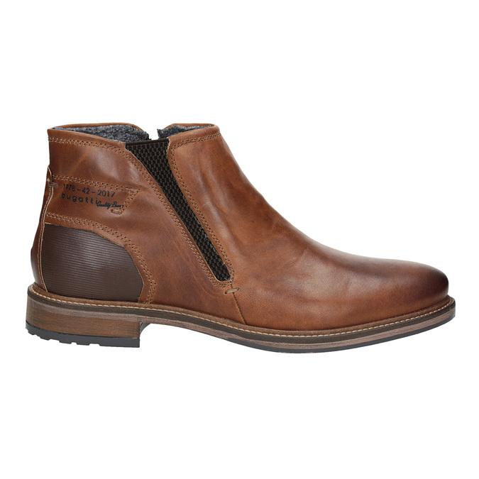 Pánska kožená členková obuv bugatti, hnedá, 816-4044 - 26