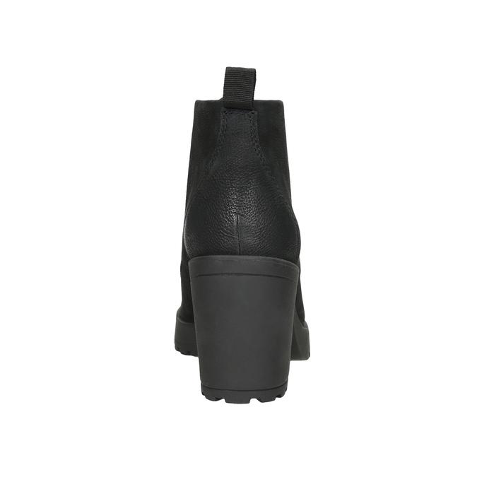 Členková dámska obuv na podpätku vagabond, čierna, 726-6016 - 16