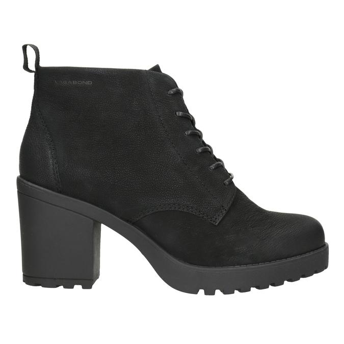 Členková dámska obuv na podpätku vagabond, čierna, 726-6016 - 26