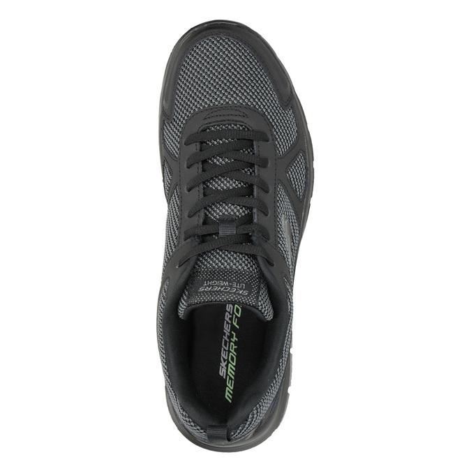 Pánske čierne tenisky skechers, čierna, 809-6331 - 15