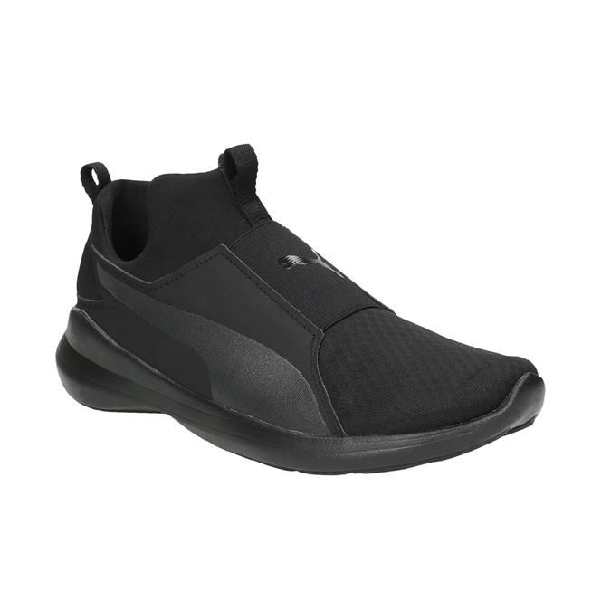 Čierne dámske tenisky bez šnurovania puma, čierna, 509-6200 - 13