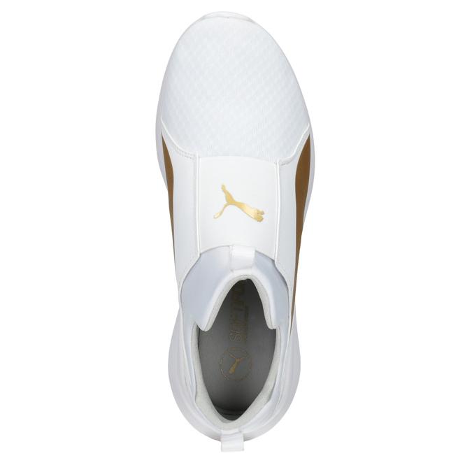 Biele dámske tenisky so zlatým pruhom puma, biela, 509-1200 - 15