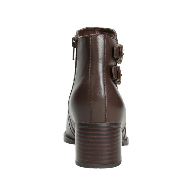 Kožené členkové čižmy s prackami bata, hnedá, 696-4650 - 16