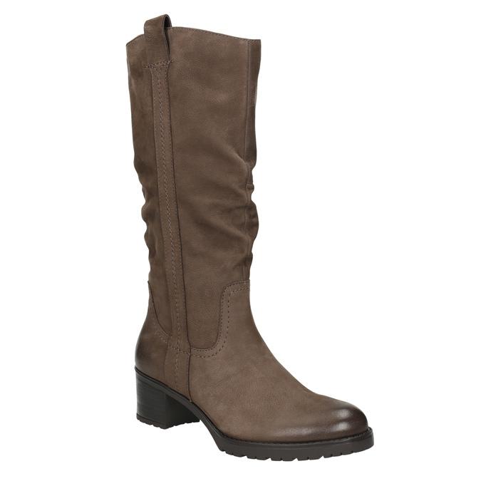 Dámske kožené čižmy bata, hnedá, 696-4649 - 13