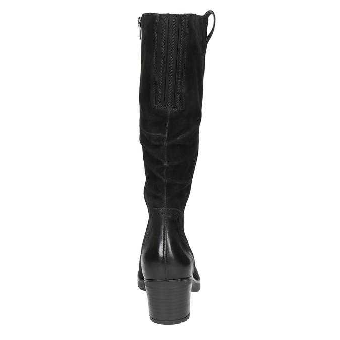 Kožené dámske čižmy bata, čierna, 696-6649 - 17