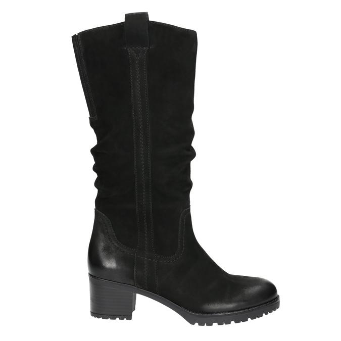 Kožené dámske čižmy bata, čierna, 696-6649 - 15