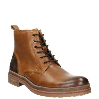 Členková pánska zimná obuv bata, hnedá, 896-3685 - 13