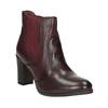 Kožené členkové topánky na podpätku bata, červená, 796-5647 - 13
