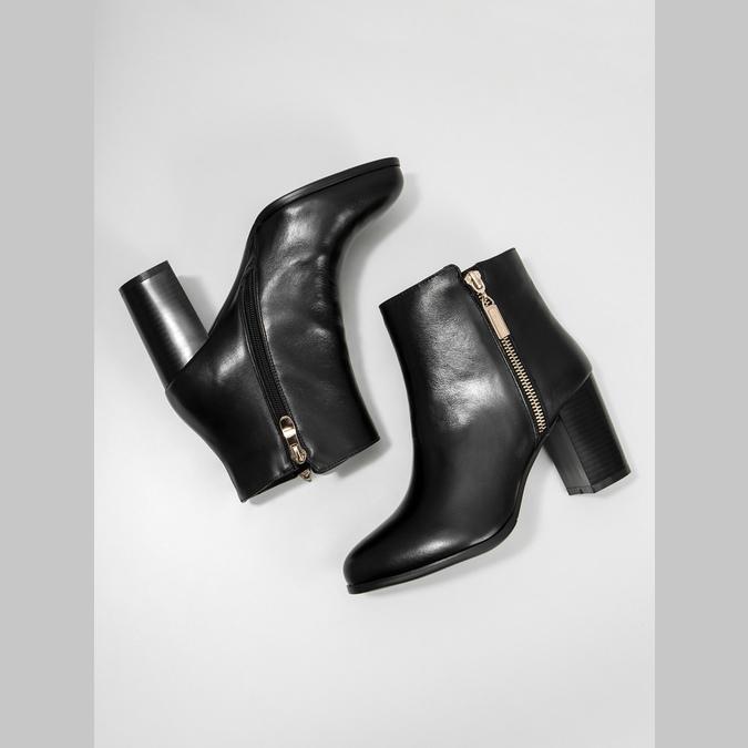 Kožené členkové čižmy bata, čierna, 694-6640 - 18