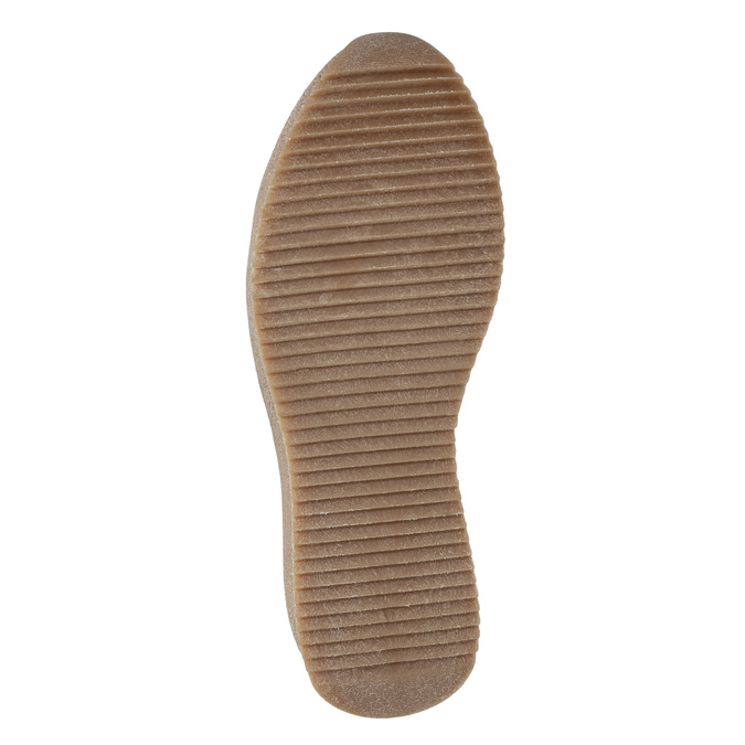 Dámská kožená obuv na flatforme bata, šedá, 596-2673 - 17