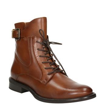 Kožené dámske čižmy bata, hnedá, 596-4680 - 13