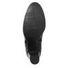 Kožené členkové topánky na podpätku bata, čierna, 794-6642 - 19