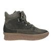 Dámská kožená obuv na flatforme bata, šedá, 596-2673 - 26