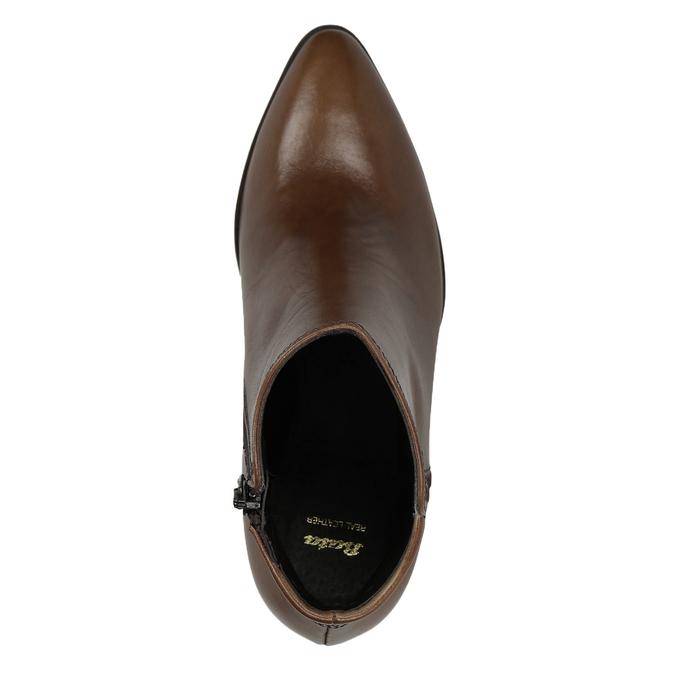 Kožená členková obuv bata, hnedá, 794-4650 - 15