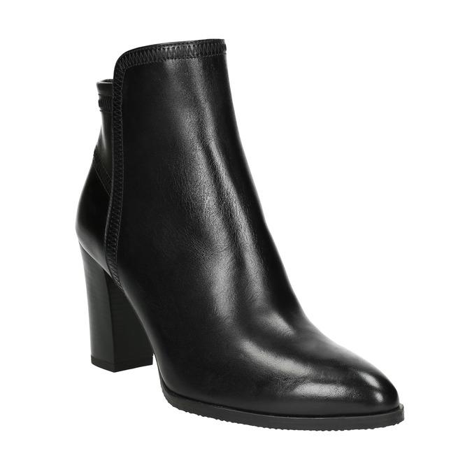 Dámske kožené členkové čižmy bata, čierna, 794-6650 - 13