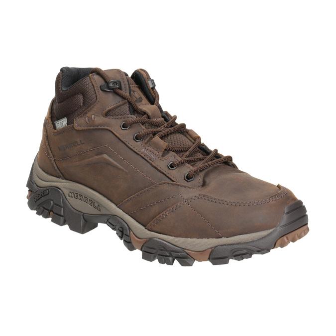 Kožená členková obuv v Outdoor štýle merrell, hnedá, 806-4569 - 13