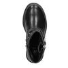 Dievčenské čižmy so zipsom mini-b, čierna, 291-6396 - 15