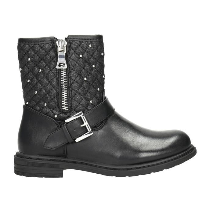 Dievčenské čižmy so zipsom mini-b, čierna, 291-6396 - 26