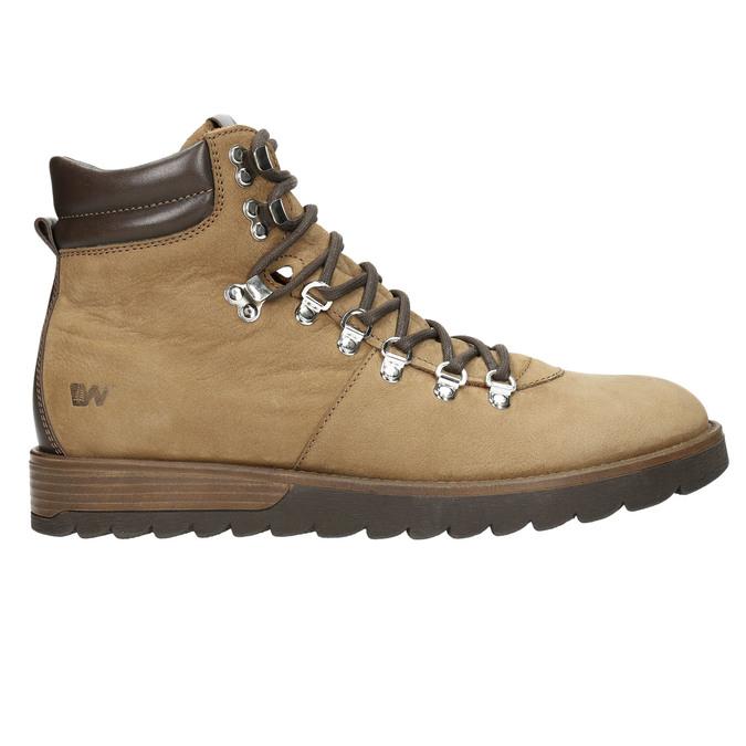 Kožená pánska zimná obuv weinbrenner, hnedá, 896-3700 - 15