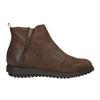 Kožená členková obuv so zipsom flexible, hnedá, 594-4227 - 26