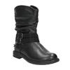 Dievčenské čižmy s kamienkami mini-b, čierna, 291-6397 - 13