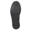Dievčenská členková obuv s trblietkami mini-b, čierna, 391-6395 - 17