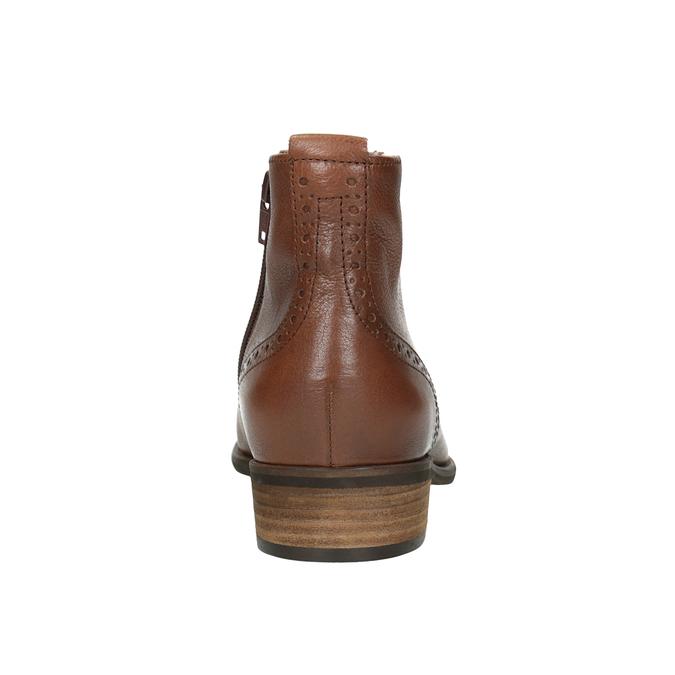 Kožená dámska členková obuv gabor, hnedá, 526-3038 - 16