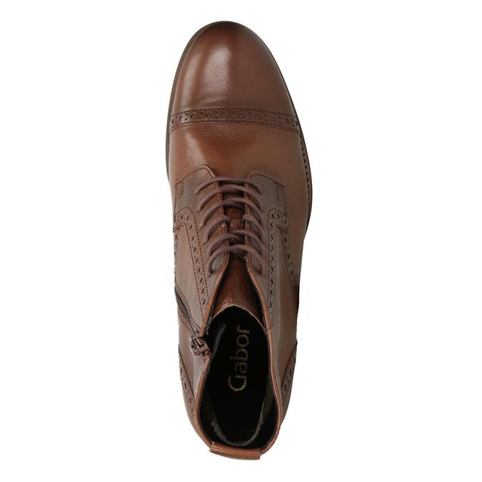 Kožená dámska členková obuv gabor, hnedá, 526-3038 - 15