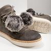 Dámska zimná obuv so šnurovaním weinbrenner, šedá, 596-2674 - 18