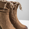 Hnedé čižmy na podpätku bata, hnedá, 799-3613 - 14
