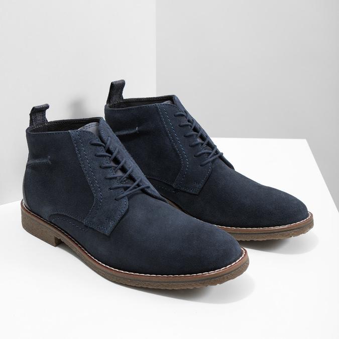 Modrá členková obuv bata, modrá, 823-9615 - 18