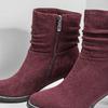 Vínové kožené čižmy bata, červená, 693-5602 - 14