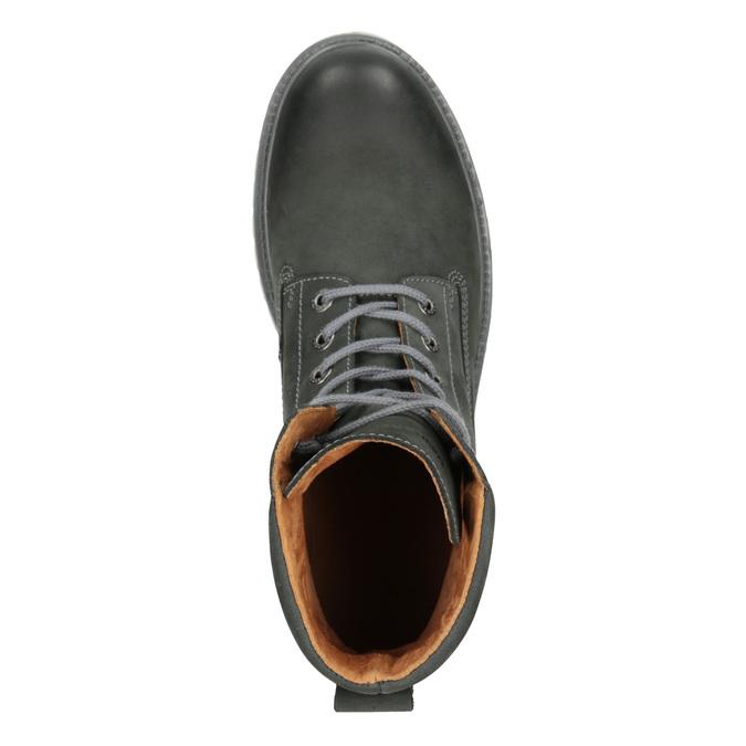 Pánska kožená obuv s výraznou podrážkou weinbrenner, šedá, 896-2702 - 15