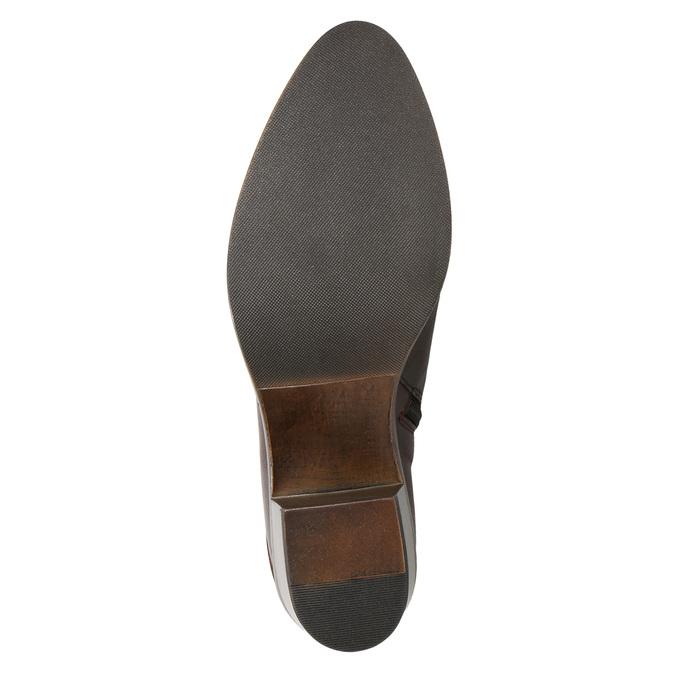 Kožené dámske členkové čižmy bata, hnedá, 696-4653 - 17