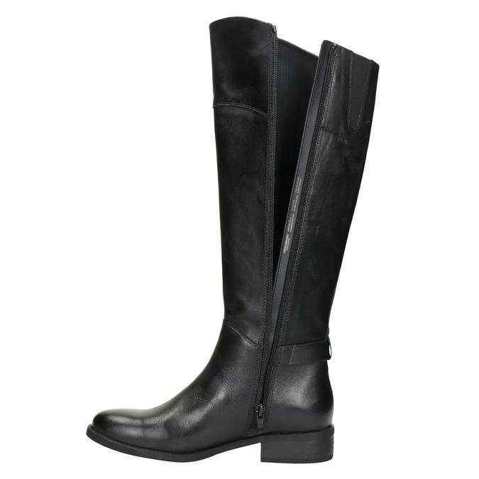Čierne kožené čižmy vagabond, čierna, 694-6029 - 15
