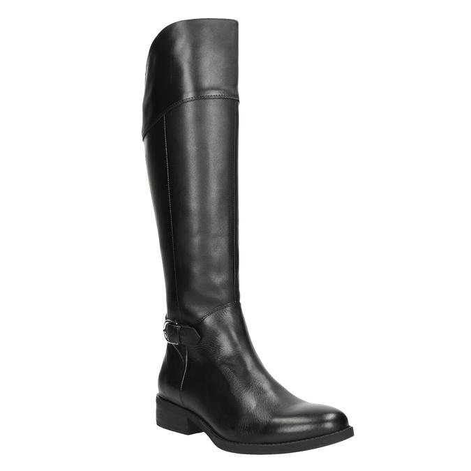 Čierne kožené čižmy vagabond, čierna, 694-6029 - 13