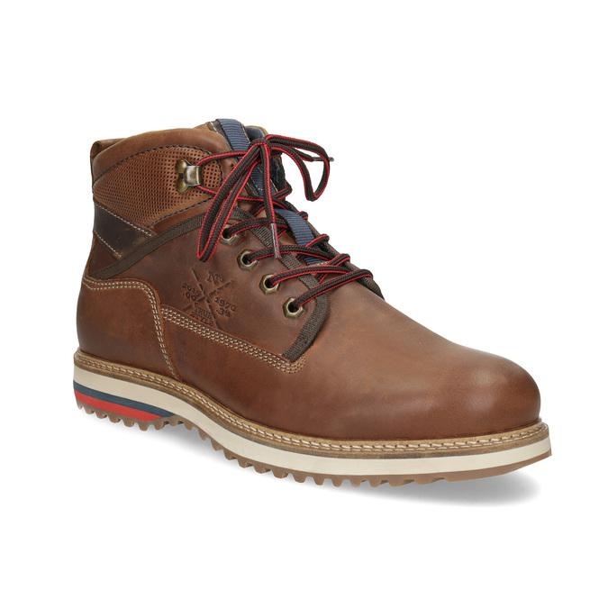 Členková pánska zimná obuv bata, hnedá, 896-3677 - 13