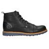 Pánska kožená členková obuv bata, čierna, 896-6667 - 15