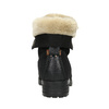 Členková obuv s kožúškom bata, čierna, 591-6618 - 17