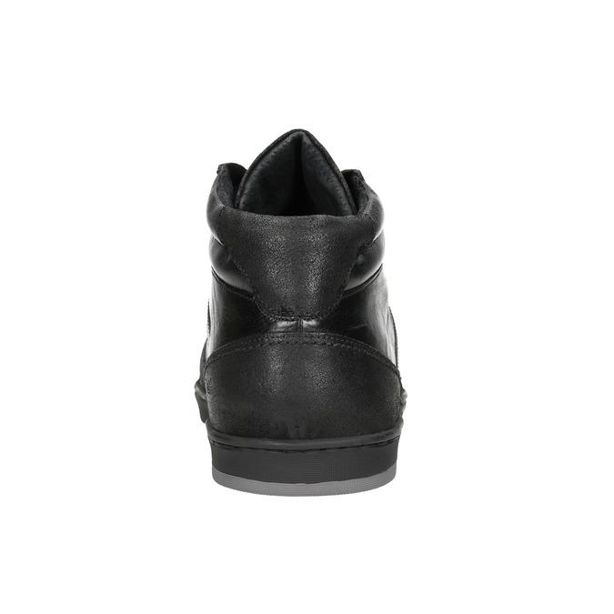 Kožené pánske členkové tenisky bata, čierna, 844-6644 - 16