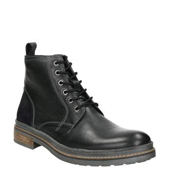 Kožená zimná členková obuv bata, čierna, 896-6685 - 13