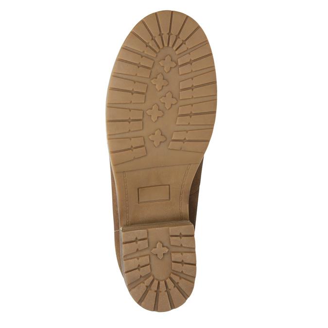 Členková obuv s kožúškom bata, hnedá, 591-4618 - 19