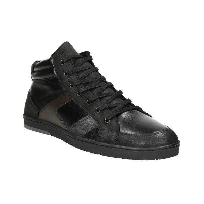 Kožené pánske členkové tenisky bata, čierna, 844-6644 - 13