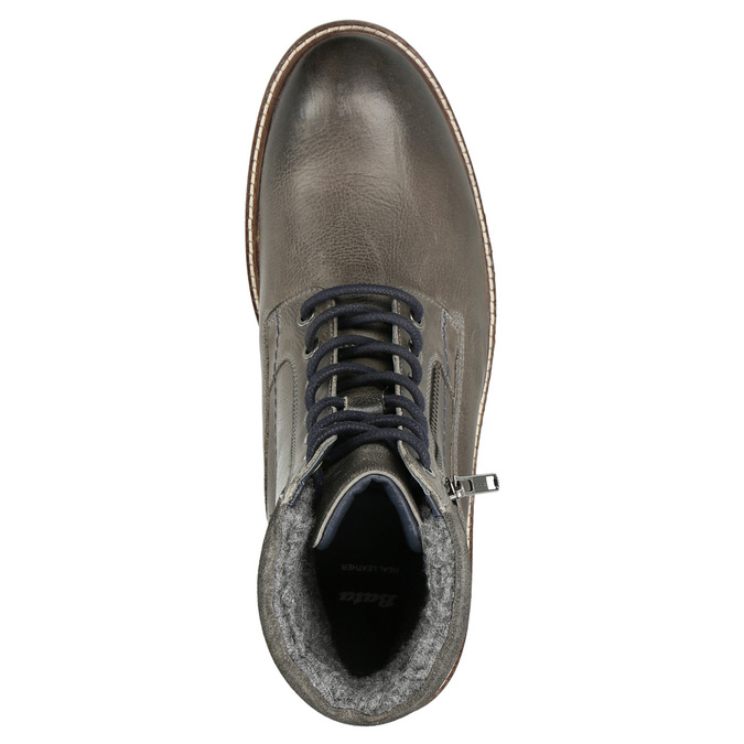Kožená členková obuv bata, šedá, 896-2686 - 26