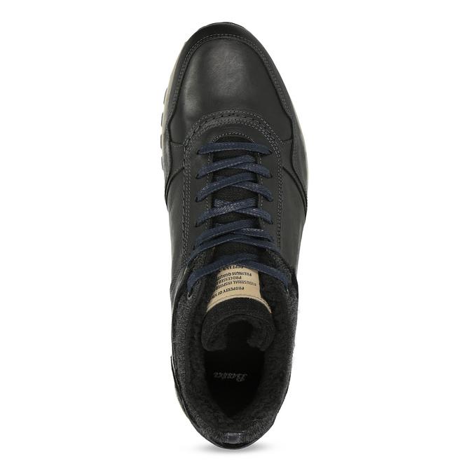 Pánske kožené tenisky so zateplením bata, čierna, 846-6646 - 17