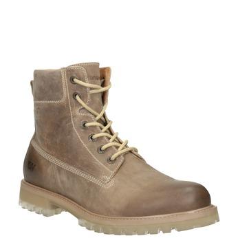Hnedá kožená členková obuv weinbrenner, žltá, 896-8702 - 13